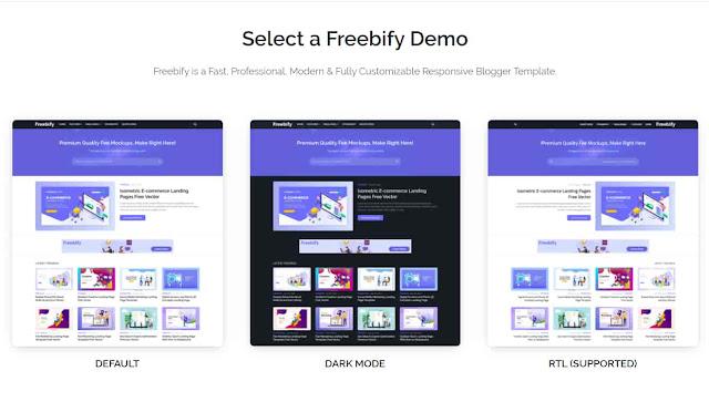 Freebify - Responsive Blogger Template