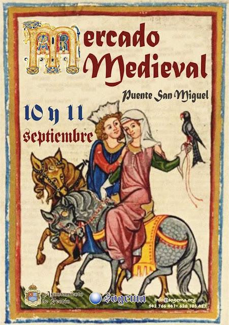 Mercado medieval en Puente San Miguel