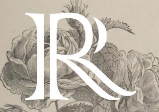 Lettrine R Rose