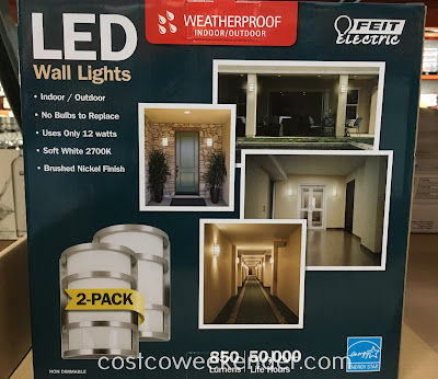 Costco 688834 - Feit Electric LED Wall Sconce Lights: versatile either for the outside or inside of your home