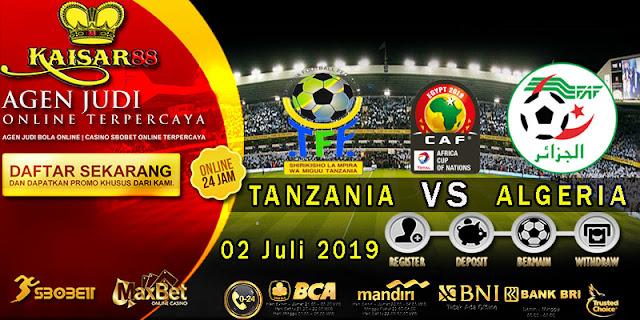 Prediksi Bola Terpercaya Liga Africa Cup Tanzania vs Aljazair 2 Juli 2019
