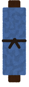 青い巻物のイラスト
