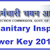 BSSC Sanitary Inspector Answer Key 2019 Download @ bssc.bih.nic.in