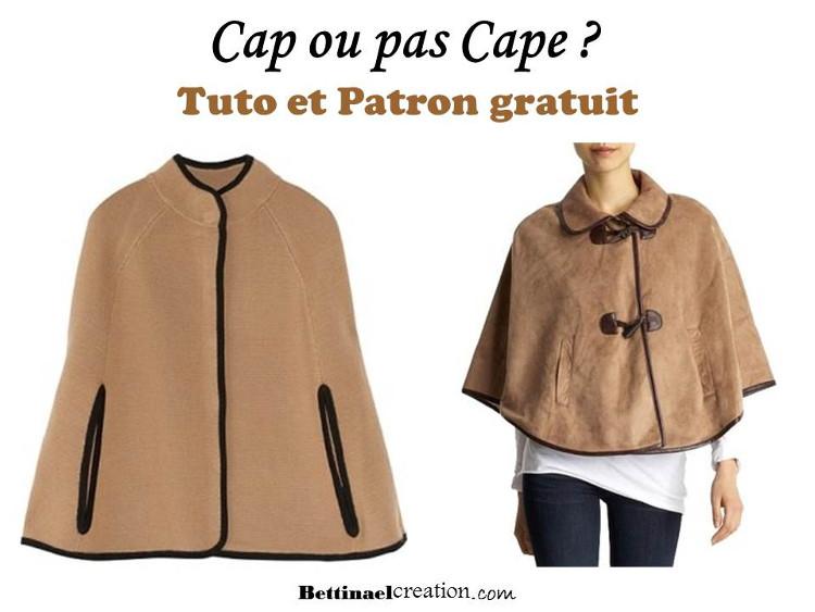 DIY COUTURE   PLUSIEURS MODELES DE CAPE PONCHO Bettinael.Passion ... 5b9c19460cd