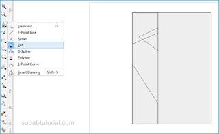 Selanjutnya pilih Pent Tool untuk membuat pola bayangan warna
