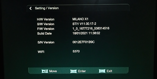 MILANO X1 1506TV 512 4M NEW SOFTWARE WITH 18 JANUARY 2021