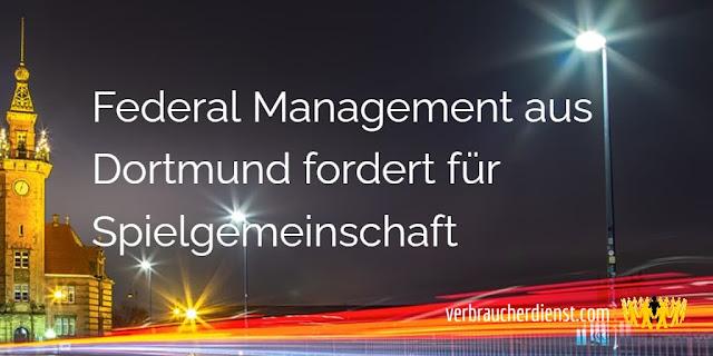 Titel: Federal Management aus Dortmund fordert für Spielgemeinschaft