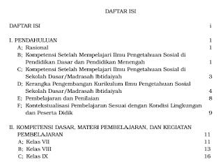 Silabus IPS SMP/MTs Kurikulum 2013 Revisi 2016