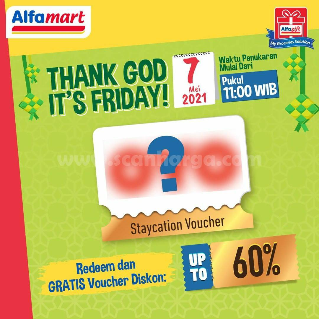 Promo ALFAMART Weekend! Thank God It's Friday Terbaru Pekan Ini via Alfagift