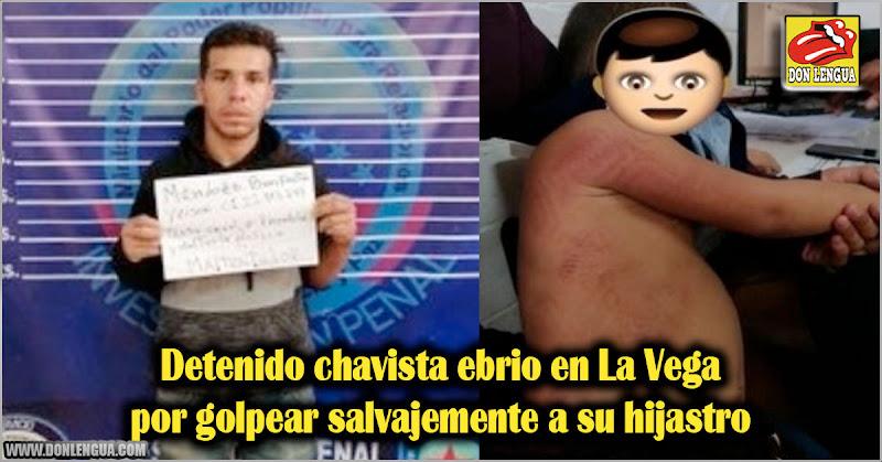 Detenido chavista ebrio en La Vega por golpear salvajemente a su hijastro