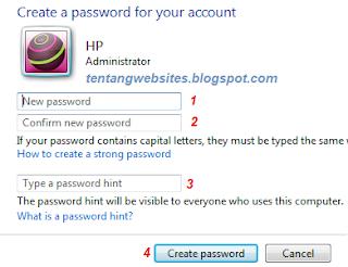 Cara Mudah memberi pasword pada Laptop,Komputer
