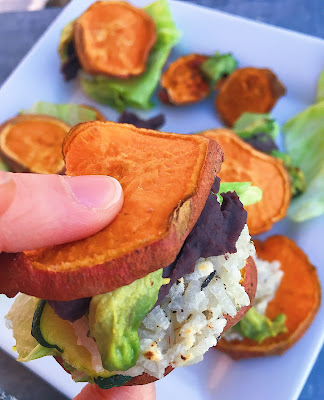 #sponsored Need a vegan and gluten free appetizer for March Madness that will score major points with party guests? Then dive into these gluten free Burrito Bowl Bites, which boast all the flavors of your favorite burrito bowl – including a homemade crispy rice cake featuring Mahatma Jasmine Rice – sandwiched between two fluffy sweet potato rounds. Whipping up a tasty gluten free and vegan appetizer for March Madness has never been easier! #MahatmaRice @MahatmaRice