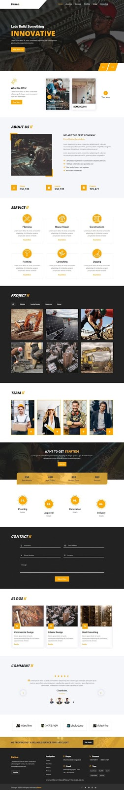Banao - Construction HTML Template