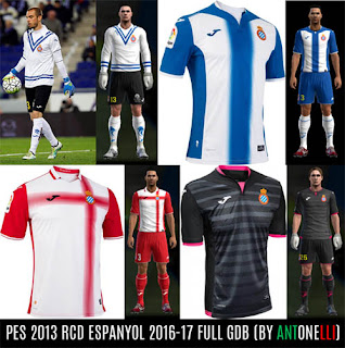 PES 2013 RCD Espanyol 2016-2017 Kits (BY Antonelli)