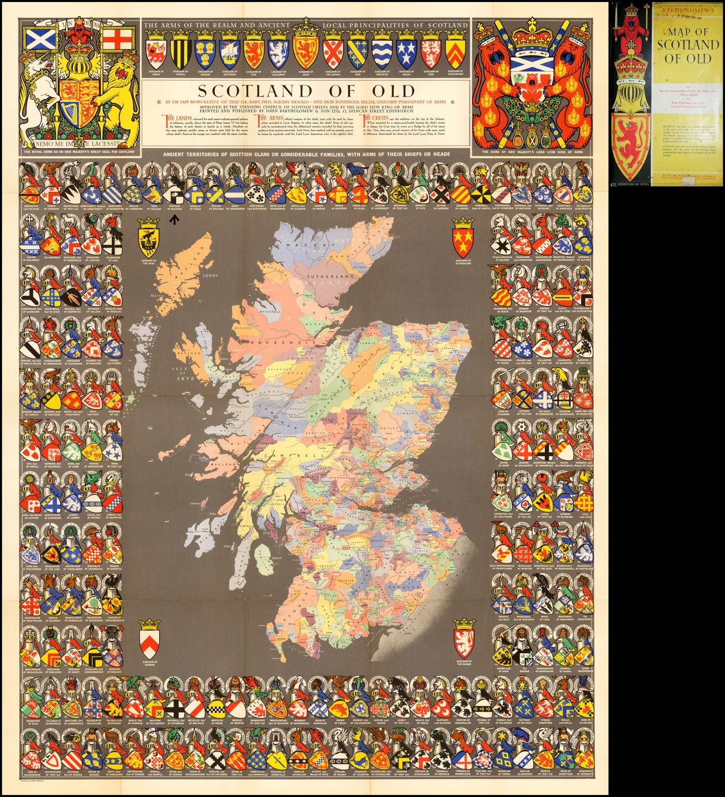 Historical Clan Map of Medieval Scotland