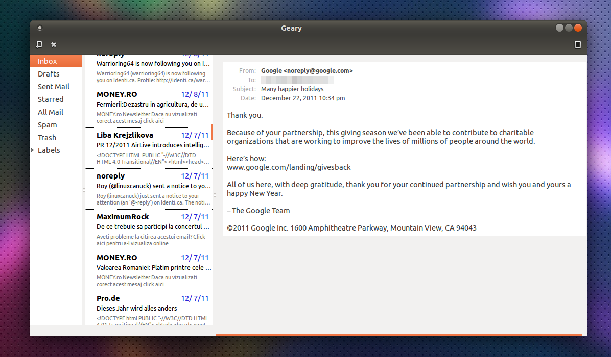 Geary: Yorba Working On A New Lightweight Email Client For GNOME