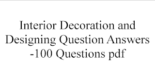 Interior Decoration and Designing Question Paper