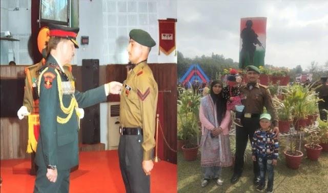 दो आतंकियों को ढेर करने वाले हिमाचल के सपूत मोहम्मद अयूब शेख सेना मेडल से सम्मानित