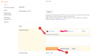 cara mengganti email yang terkait pada blog - blog