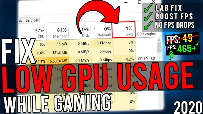Fix Low GPU Usage While Gaming