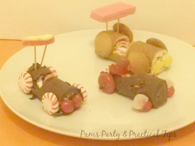 Race Cars made from candy for Candy Party themes