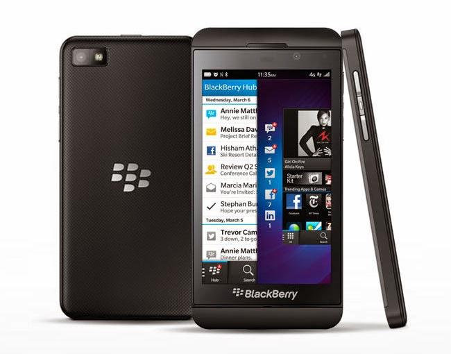 Spesifikasi Hp Blackberry Z10 - Black