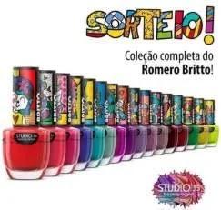 Promoção Studio 35 Cosméticos Concorra Kit Esmaltes Romero Britto 16 Cores