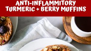 ANTI-INFLAMMITORY TURMERIC + BERRY MUFFINS