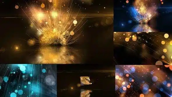 Videohive Glowing Particals Logo Reveal 30: Golden Particals 09 22379799