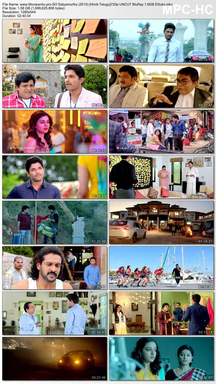 S/O Satyamurthy 2015 720p Dual Audio In [Hindi Telugu]