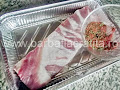 coastele de porc in tava si amestecam boiaua cu cimbrul - preparare reteta
