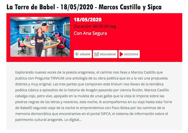 http://www.aragonradio.es/podcast/emision/la-torre-de-babel-18052020-marcos-castilla-y-sipca/