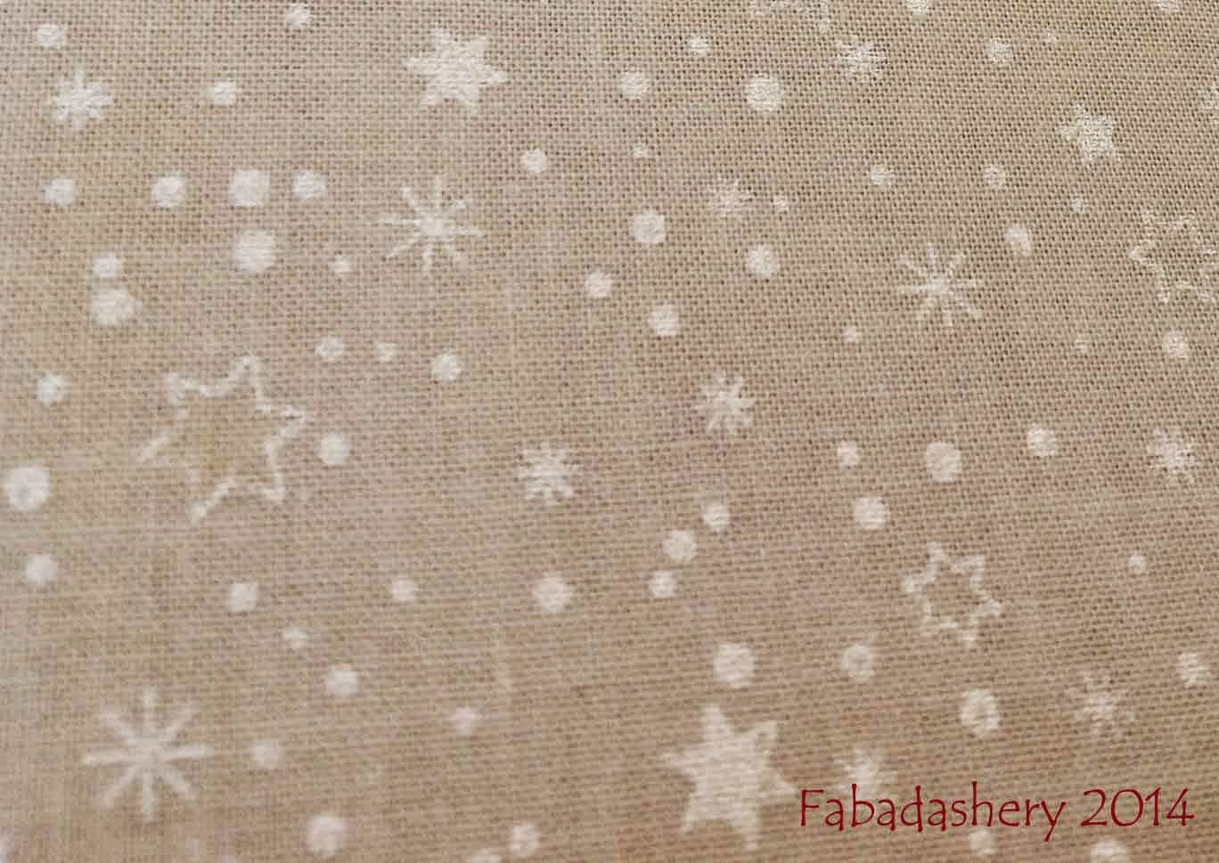 Pearlescent star fabric