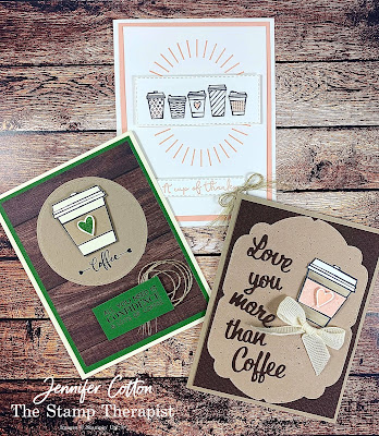 Three cards using Stampin' Up!®'s Press On stamp set!  Check out the blog for a video and supply list!  #StampTherapist #StampinUp