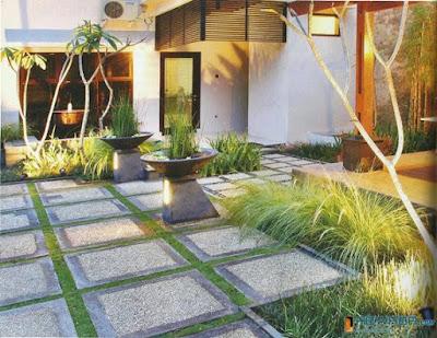 Desain Sederhana Paving Halaman Rumah