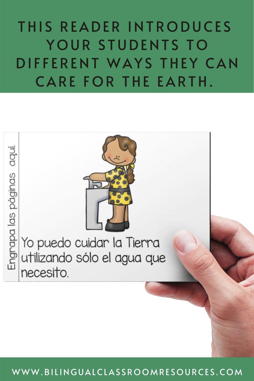 Earth Day Reader In Spanish/ El día de la Tierra