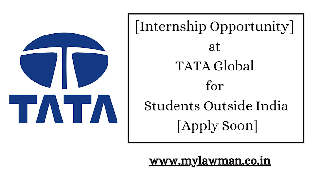 [Internship Opportunity] at TATA Global for Students Outside India [Apply Soon]