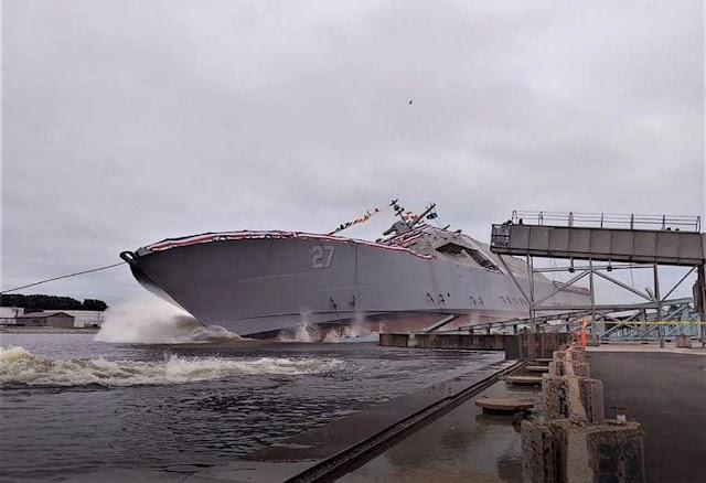 New USS Nantucket christened in Marinette, Wisconsin