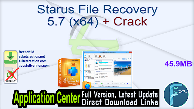 Starus File Recovery 5.7 (x64) + Crack