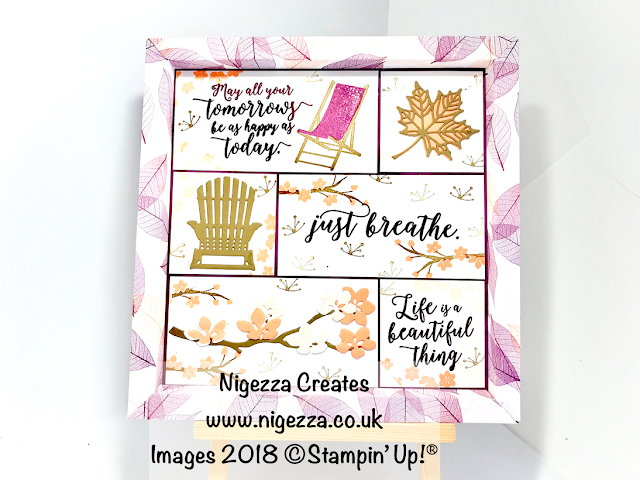 Shadow Frame Box Sampler Using Stampin' Up!® Natures Poem & Colourful Seasons Nigezza Creates