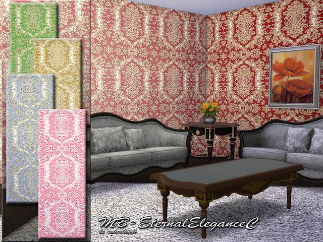 Стены с полосатым рисунком для The Sims 4 со ссылками на скачивание