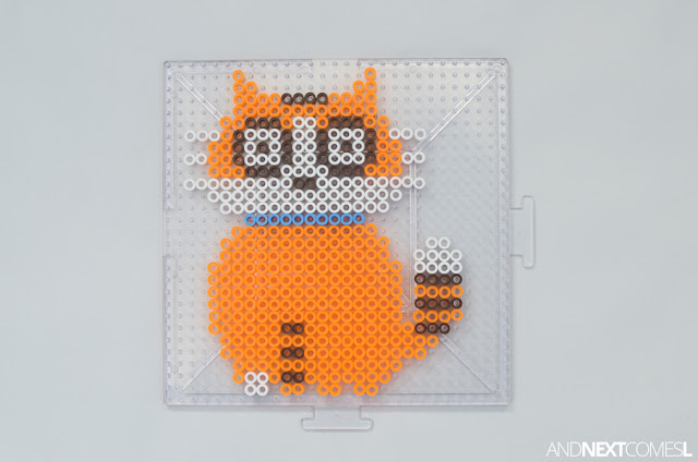 How to make Sassafras the cat perler bead craft from And Next Comes L