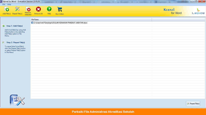 cara memperbaiki File word Administrasi Akreditasi Sekolah