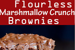 Flourless Marshmallow Crunch Brownies