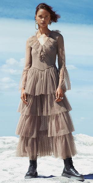 vestido Sandra Mansour HM Coleccion