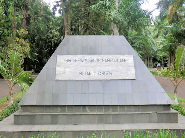 Eingang zum Sir Seewoosagur Ramgoolam Botanical Garden