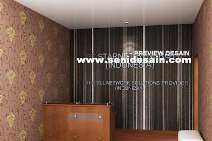 Jasa design 3ds max lobby kantor wallpaper full posisi berdiri