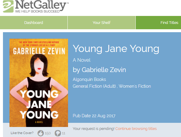 Getting started with NetGalley - pending request