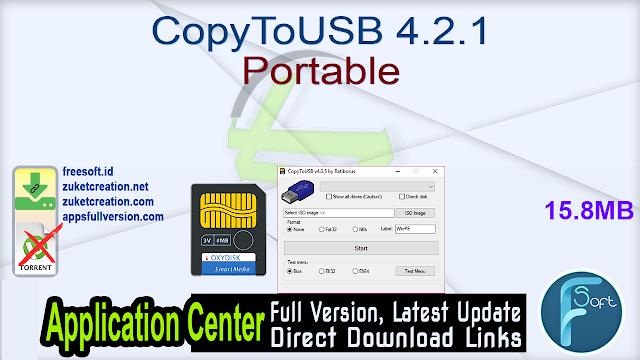 CopyToUSB 4.2.1 Portable