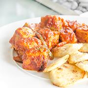 Atún fresco en salsa de tomate